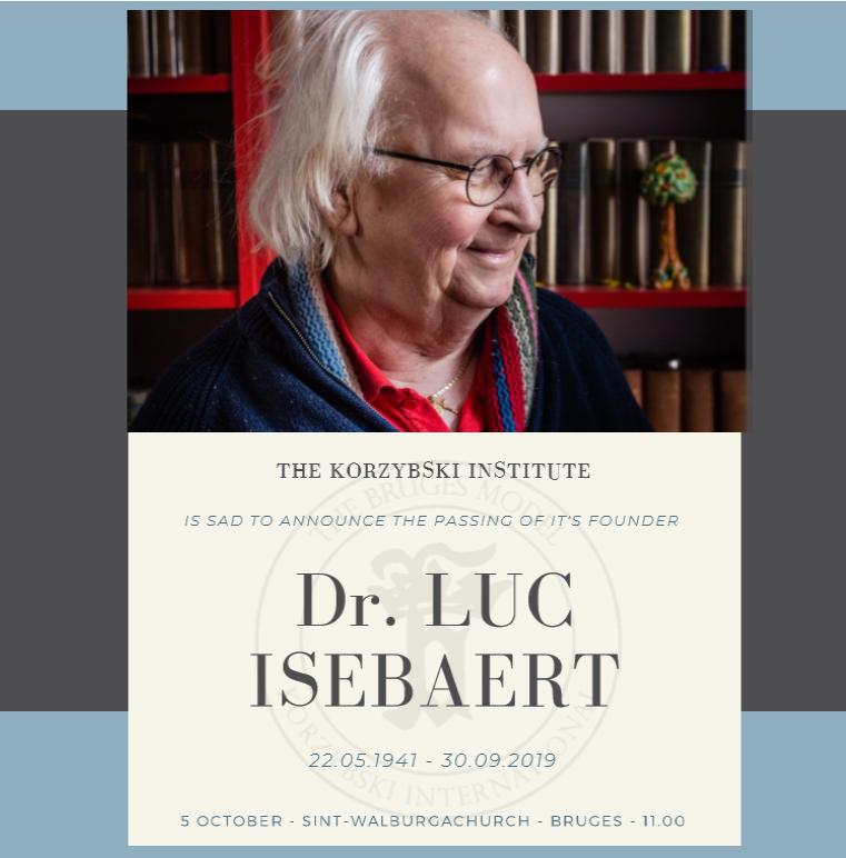 Hommage à Luc Isebaert